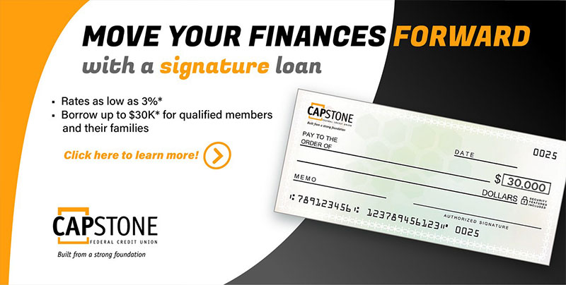 Move your finance forward witha signature loan